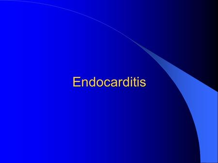 Endocarditis. Epidemiology An estimated 10,000 to 15,000 new cases of infective endocarditis (IE) are diagnosed <strong>in</strong> the United States each year. Men predominate.