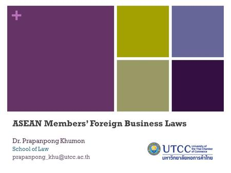 ASEAN Members' Foreign Business Laws