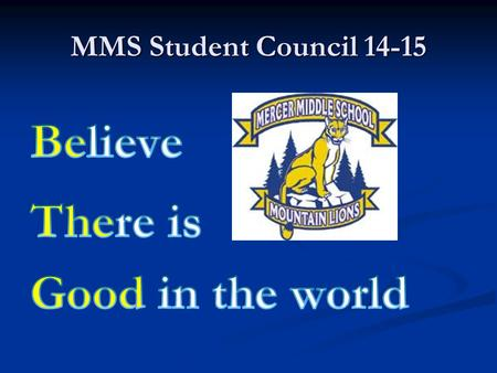 MMS Student Council 14-15. SCA has joined NASC Mercer's student council has joined the National Association of Student Councils Mercer's student council.