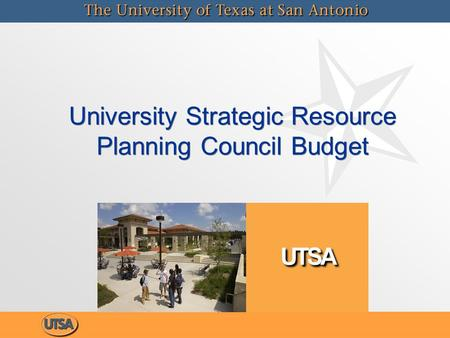University Strategic Resource Planning Council Budget.