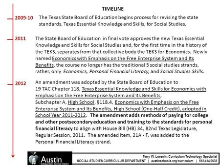 An amendment was adopted by the State Board of Education to 19 TAC Chapter 118, Texas Essential Knowledge and Skills for Economics with Emphasis on the.