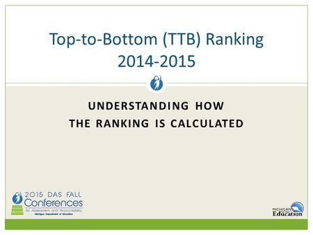 UNDERSTANDING HOW THE RANKING IS CALCULATED Top-to-Bottom (TTB) Ranking 2014-2015.