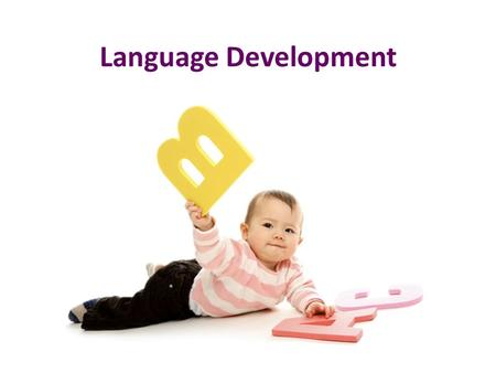 Language Development. Four Stages of Language Development Stage NameYears of Life 1.) Pre-Speech Stage0 – 6 months 2.) Babbling Stage6 – 8 months 3.)