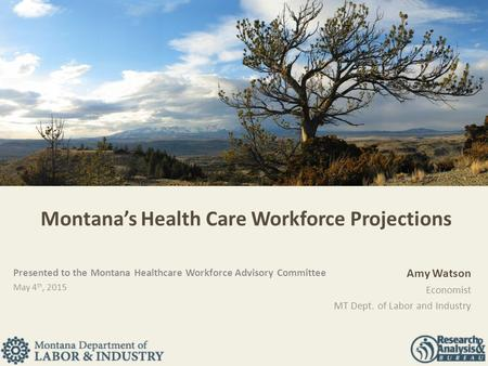 Montana's Health Care Workforce Projections