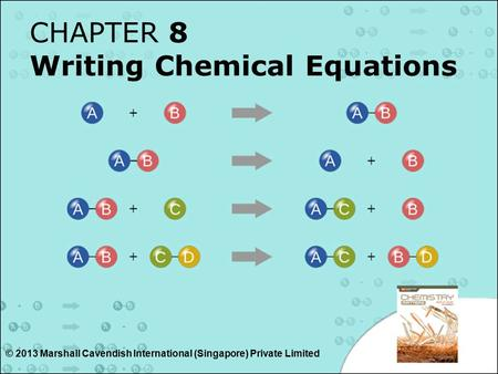 CHAPTER 8 Writing Chemical Equations © 2013 Marshall Cavendish International (Singapore) Private Limited.