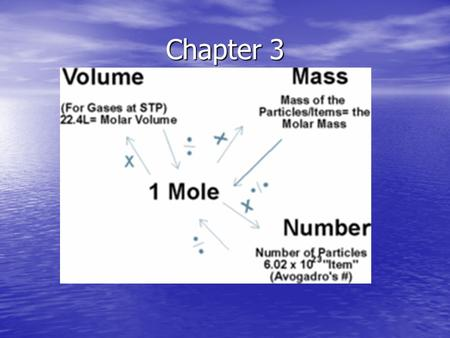 Chapter 3. Atoms are very small, but we need to know the mass of different atoms to compare them. To do this, we define a unit, called the atomic mass.