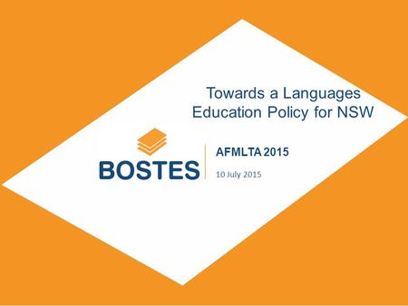 SUBTITLE DAY, MONTH, YEAR Towards a Languages Education Policy for NSW AFMLTA 2015 10 July 2015.