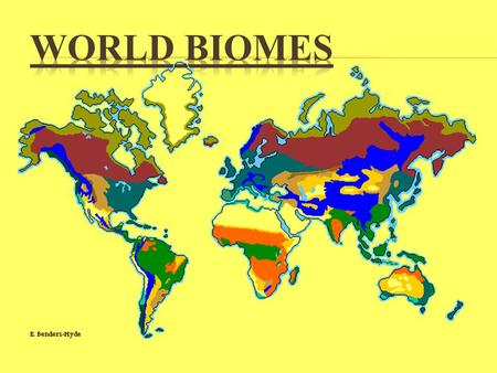 World Biomes.