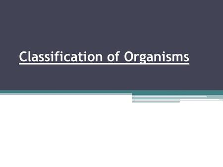 Classification of Organisms. The study of the kinds and diversity of organisms and their evolutionary relationships is called systematics or taxonomy.