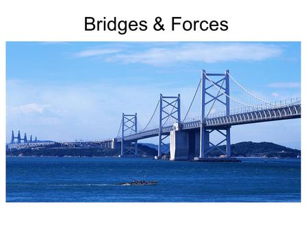 Bridges & Forces. How Forces Affect Different Types of Bridges.