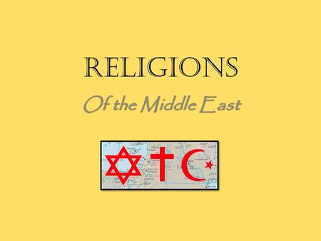 Religions Of the Middle East. VI. Judaism Torah Jewish Holy Book Old Testament of the Bible A. Judaism is the main religion of Israel. It is based upon.
