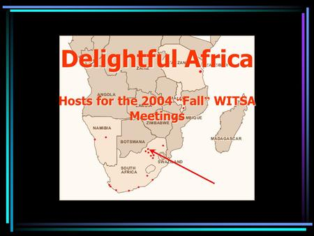"Delightful Africa Hosts for the 2004 "" Fall "" WITSA Meetings."