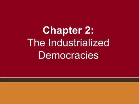 Chapter 2: The Industrialized Democracies. Four Elections United States 2004 Great Britain 2005 France 2007 Germany 2005.