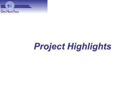 Project Highlights. New Process Project Report videos available at
