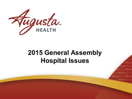 "2015 General Assembly Hospital Issues. 2015 – a ""Short Session"" 1,865 Bills Introduced from Senate 1,143 Bills Introduced in House 3,008 Bills Reviewed."