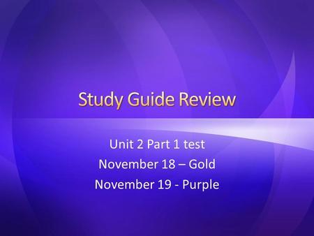 Unit 1 test part 2