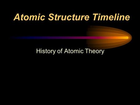 Atomic Structure Timeline