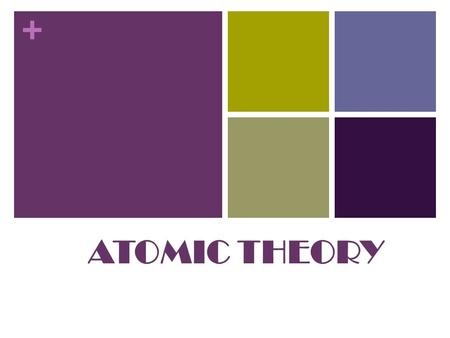 + ATOMIC THEORY. + Democritus Atom Democritus is an Ancient Greek philosopher born in Abdera, Thrace, Greece He was said to be the first step toward the.