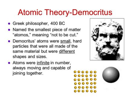 Atomic Theory-Democritus