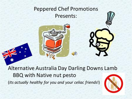 Peppered Chef Promotions Presents: Alternative Australia Day Darling Downs Lamb BBQ with Native nut pesto (Its actually healthy for you and your celiac.