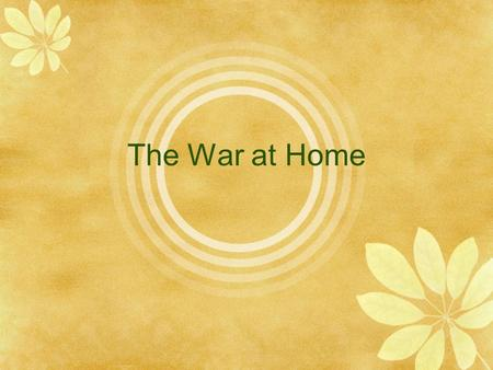 The War at Home. The War on the Home Front  What the war looked like in Canada  Sacrifice  Halifax Explosion  Enemy Aliens  Role of Government 