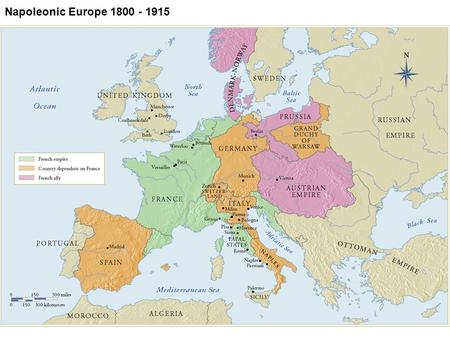 1 Napoleonic Europe 1800 - 1915. 2 1.Origins and spread of the luxurious and decorative style known as Rococo. 2.Main styles of Neoclassicism and Romanticism.