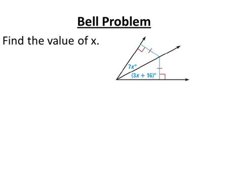 Bell Problem Find the value of x.. 5.4 Use Medians and Altitudes Standards: 1.Apply proper techniques to find measures 2.Use representations to communicate.