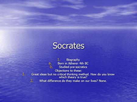 An analysis of the dilemma of the philosopher and the city by socrates