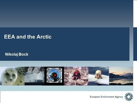 Nikolaj Bock EEA and the Arctic. *5 are member countries in the Arctic Council (DEN, SWE, FIN, ICE, NOR) 6 are permanent observes in the Arctic Council.