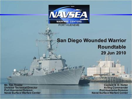 San Diego Wounded Warrior Roundtable