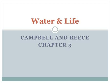 Campbell and Reece Chapter 3