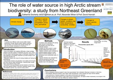 Title Climate change Changes in glacier size, snow extent, precipitation (snow: rain), permafrost Changes in stream habitat conditions (eg. Water temperature,