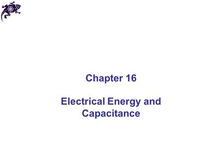 Electrical Energy and Capacitance