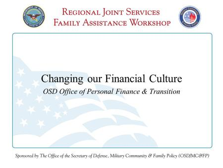 Changing our Financial Culture