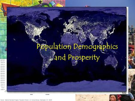 Population Demographics and Prosperity. Demographics? Demographics refers to a variety of statistics used to analyze and evaluate different populations.