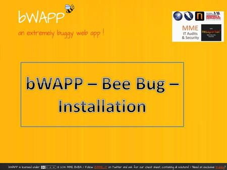 bWAPP, or a buggy web application, is a free and open source deliberately insecure web application. It helps security enthusiasts, developers and students.