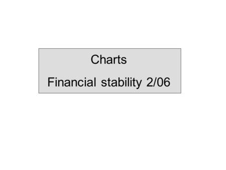 Charts Financial stability 2/06. Summary Chart 1 <strong>Banks</strong>' Tier 1 capital ratio and pre-tax profit as a percentage of average total assets. 1) 1998 – 2005.