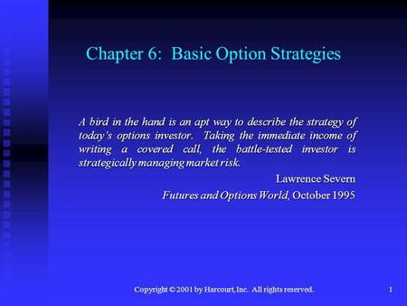 Simple options strategies