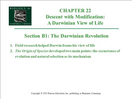 chapter 22 descent with modification Chapter 19 active reading guide descent with modification  descent with modification the idea that living species are descendants of  22 how do homologous .