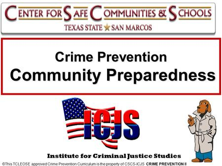 Crime Prevention Community Preparedness