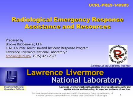 Radiological Emergency Response Assistance and Resources