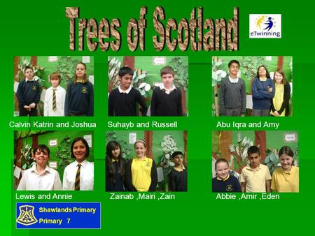 Shawlands Primary Primary 7 Calvin Katrin and Joshua Suhayb and Russell Abu Iqra and Amy Lewis and Annie Zainab,Mairi,Zain Abbie,Amir,Eden.