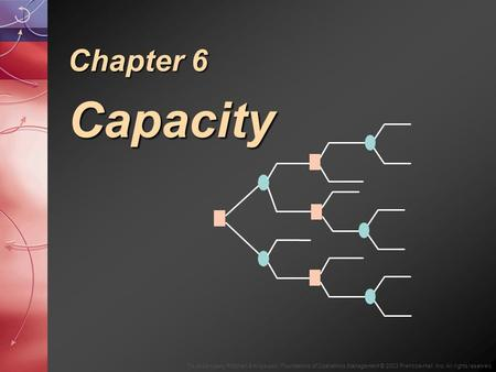 To Accompany Ritzman & Krajewski, Foundations of Operations Management © 2003 Prentice-Hall, Inc. All rights reserved. Chapter 6 Capacity.