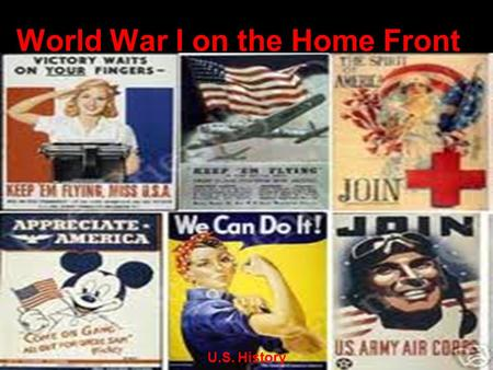 World War I on the Home Front