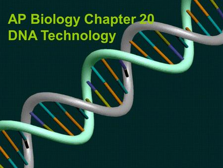AP Biology Chapter 20 DNA Technology. Recombinant DNA: genes from 2 different sources, can be 2 dif. species Genetic engineering: direct manipulation.