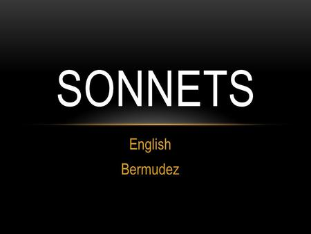 Sonnets English Bermudez.