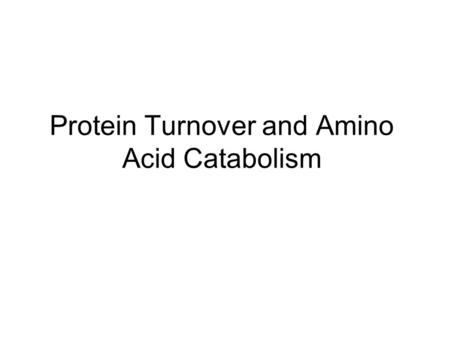 Protein Turnover and Amino Acid Catabolism. The Digestion and Absorption of Dietary Proteins Pepsin nonspecific maximally active at low pH of the stomach.