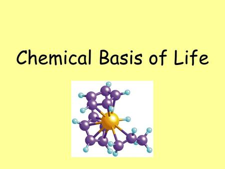 Chemical Basis of Life. Ionic Bonding