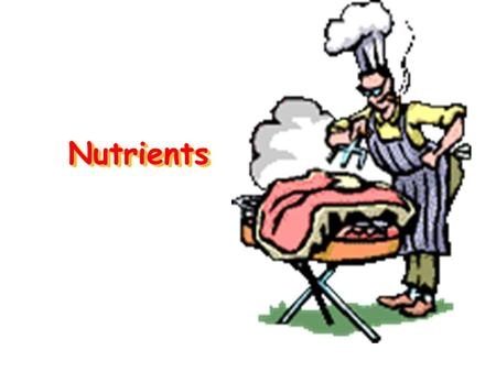 NutrientsNutrients. Why do we need food? Energy Growth and Repair (make new protoplasm) Regulate Body Functions / Maintain health.