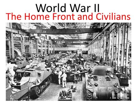 World War II The Home Front and Civilians. The City of Leningrad (now St. Petersburg) experienced 900 days of siege. Its inhabitants became so desperate.